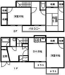 [テラスハウス] 神奈川県横浜市青葉区美しが丘4丁目 の賃貸【神奈川県 / 横浜市青葉区】の間取り