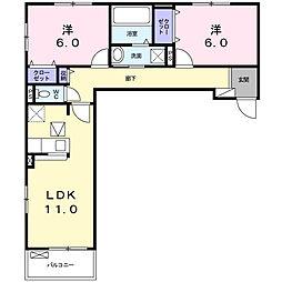 ブルック スクエア[1階]の間取り