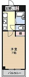 第16長栄アーバンハイツ五条[607号室号室]の間取り