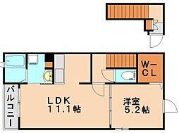 ボンシャンス2[2階]の間取り