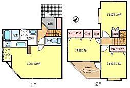 [テラスハウス] 東京都町田市真光寺2丁目 の賃貸【/】の間取り