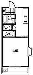 コーポアーバンスペース[201号室]の間取り