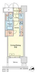 JR山手線 田町駅 徒歩10分の賃貸マンション 3階ワンルームの間取り