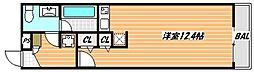 東京メトロ東西線 浦安駅 徒歩7分の賃貸マンション 2階ワンルームの間取り