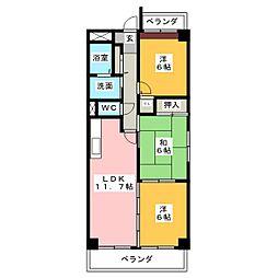 シェルフォーブルI[2階]の間取り
