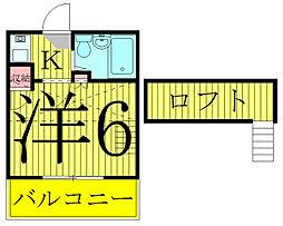 ピースフルハウスA棟[2階]の間取り