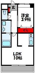 仮称)上府北2丁目アパート[208号室]の間取り