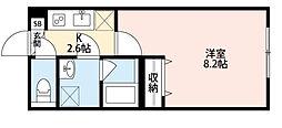 Platinum Court EastII(プラチナム コート イーストツー)[2階]の間取り