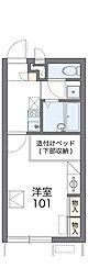 南海高野線 滝谷駅 徒歩15分の賃貸アパート 2階1Kの間取り