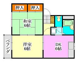 メゾン美松台[2階]の間取り