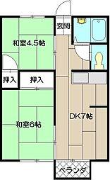 メイゾン佐藤II[203号室]の間取り