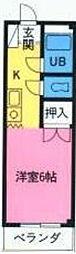 神奈川県相模原市中央区宮下本町1丁目の賃貸マンションの間取り