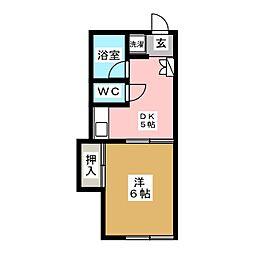 コーポ平間[2階]の間取り