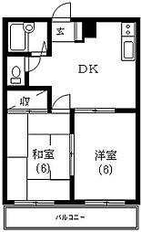 東京都調布市飛田給1丁目の賃貸マンションの間取り