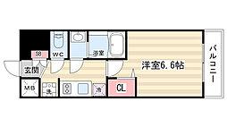 プレサンス京都二条京華 408[4階]の間取り