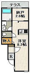 ONLYONE宝塚山本II[1階]の間取り