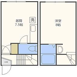 JPコート美園II[103号室]の間取り