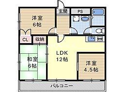 森川マンション[4階]の間取り
