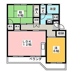 メゾン ポレール[1階]の間取り