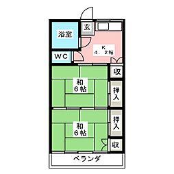 第二幸治アパートB[2階]の間取り