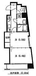 定禅寺HILL[3階]の間取り