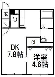 PLAZA M−7[101号室]の間取り