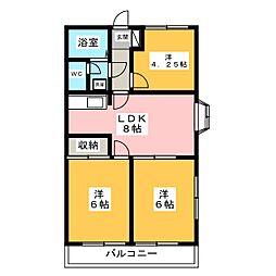 グリーンパーク伊勢崎[2階]の間取り