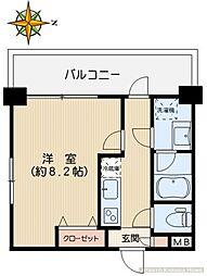 M.K.播磨坂[205号室]の間取り