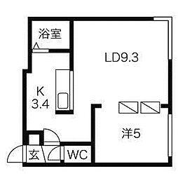 ASM麻生[4階]の間取り