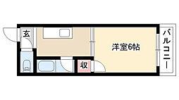 愛知県名古屋市南区大堀町7丁目の賃貸アパートの間取り