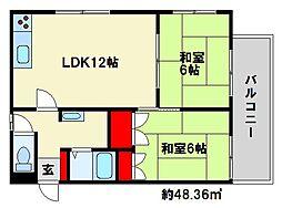 ドミールK[2階]の間取り