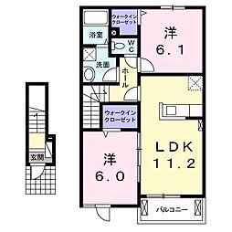 サクールI[2階]の間取り