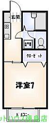 フレグランス望[102号室]の間取り
