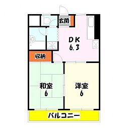 東京都足立区東伊興3丁目の賃貸マンションの間取り