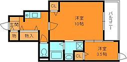 H.T.ミニョン3[1階]の間取り
