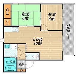ノースフィールド2[2階]の間取り