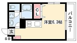 愛知県名古屋市瑞穂区太田町1丁目の賃貸アパートの間取り
