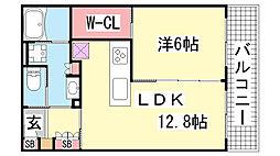 エルグレース神戸三宮タワーステージ[1205号室]の間取り