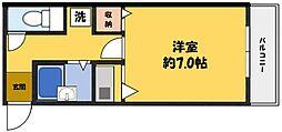 シャンブルII[2階]の間取り
