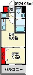 No.71 オリエント トラストタワー 31階1DKの間取り