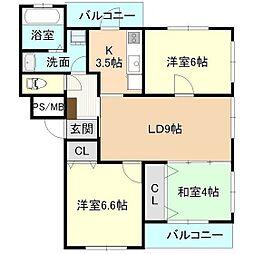 パルI[2階]の間取り