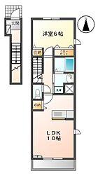 プラシード K[2階]の間取り