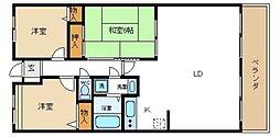 サンセール菊[4階]の間取り