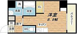 エスパシオ・コモド大阪新町[3階]の間取り