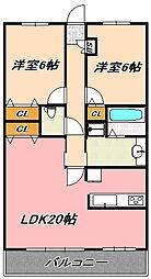 兵庫県神戸市灘区桜口町4丁目の賃貸マンションの間取り