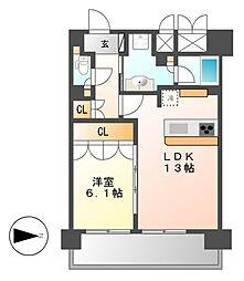 グラン・アベニュー名駅[4階]の間取り