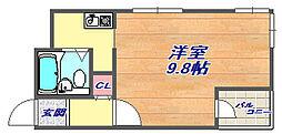 兵庫県神戸市灘区中原通3丁目の賃貸マンションの間取り