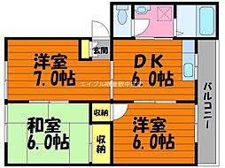 岡山県倉敷市水島相生町丁目なしの賃貸アパートの間取り