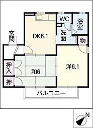 サンハイツV B棟[2階]の間取り