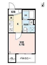 愛知県名古屋市守山区小幡南3丁目の賃貸アパートの間取り